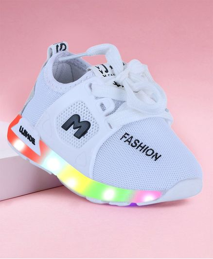 Buy PASSION PETALS Laced Up LED Shoes