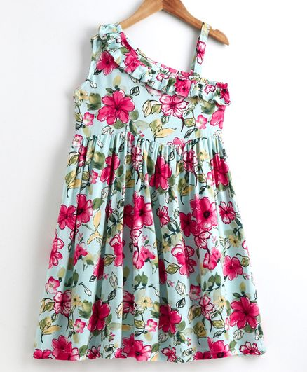Little LABS Sleeveless Floral Print Dress - Multi Colour