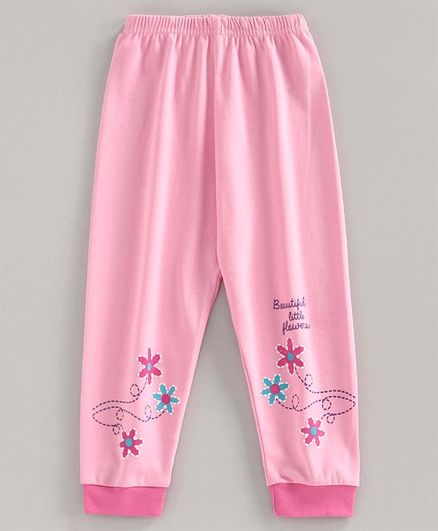 Bodycare First Full Length Lounge Pant Floral Print - Pink