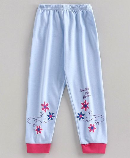 Bodycare First Full Length Lounge Pant Floral Print - Blue