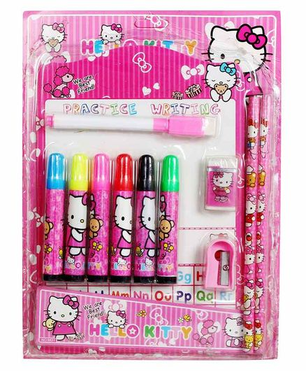 Funcart Stationery Set Pink Pack of 1 - 12 Pieces