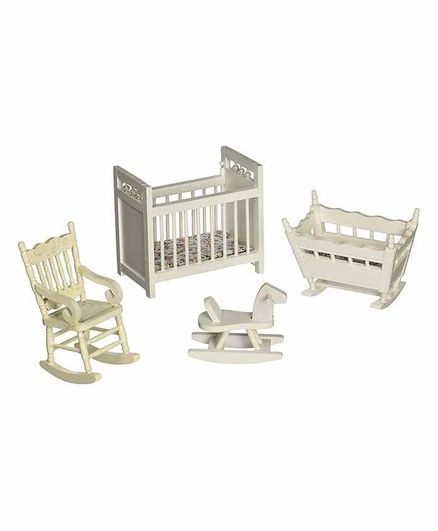 Melissa & Doug Deluxe Doll House Nursery Furniture - White
