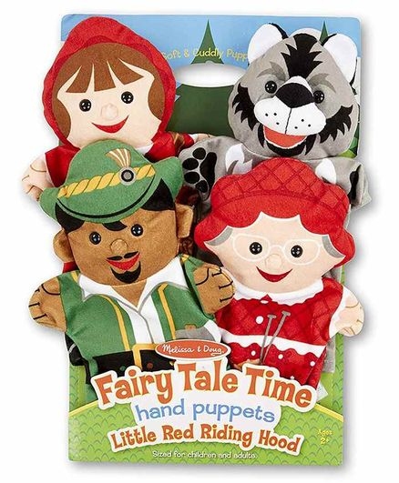 Melissa & Doug Little Red Riding Hood Hand Puppets Pack of 4 - Multicolor