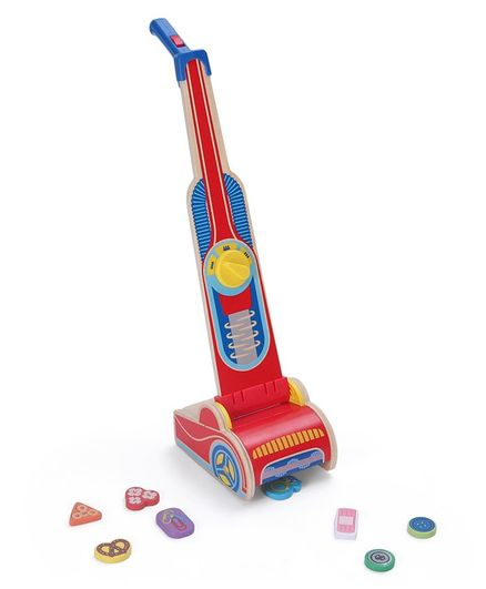 Melissa & Doug Wooden Vacuum Cleaner Play Set - 10 Pieces