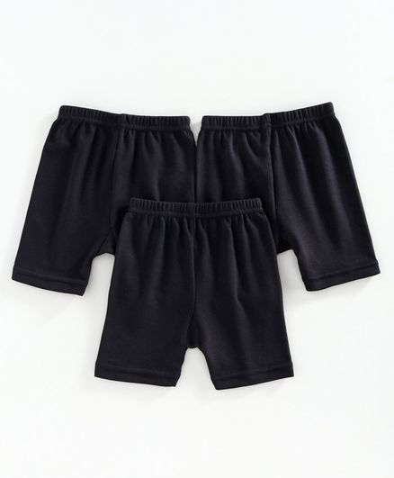 Red Rose Cycling Solid Shorts - Black