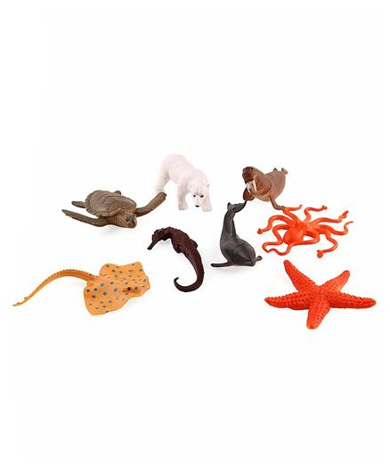 Aquatic Animal Figures Pack of 8 - Multicolor