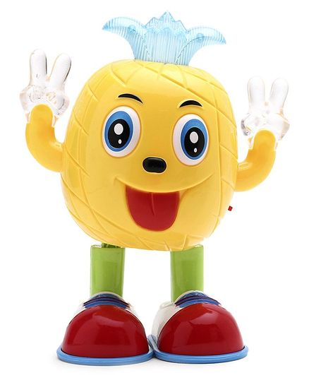 Battery Operated Pineapple Toy - Yellow