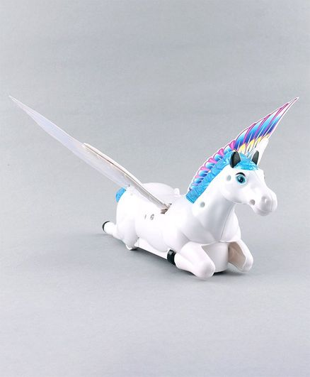 Battery Operated Musical Pegasus - White