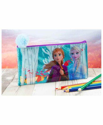Disney Frozen 2 Confetti Pencil Case - Blue
