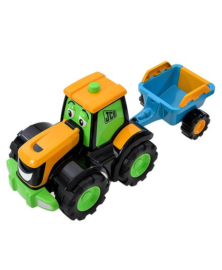 JCB Free Wheel Tractor Toy Vehicle - Orange Green