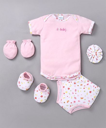 Montaly Infant Clothing Gift Set Pack of 8 - Pink White