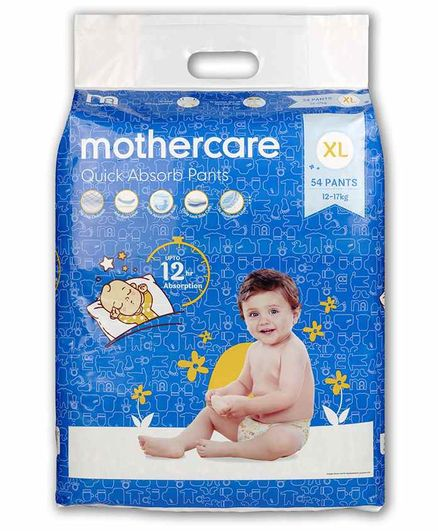 Mothercare Extra Absorb Pant Style Diapers Extra Large - 54 Pieces