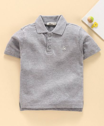 Adams Kids Short Sleeves Polo Tee - Grey