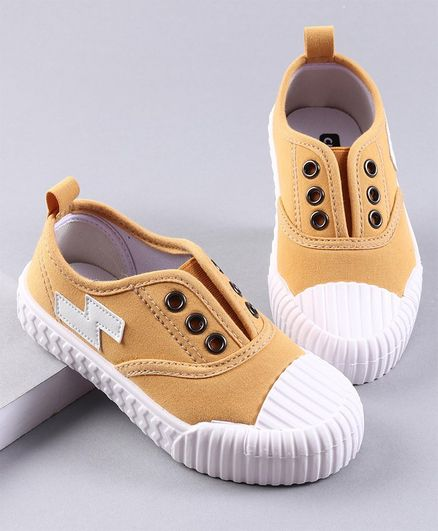 Cute Walk by Babyhug Canvas Casual Shoes - Yellow