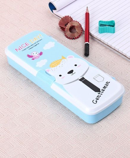 Pencil  Box  with Pen Slot  - Blue