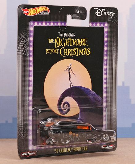 Hot Wheels The Nightmare Before Christmas Free Wheel Die Cast '59 Cadillac Funny Car - Purple