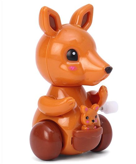 Kangaroo Shaped Wind Up Toy - Brown