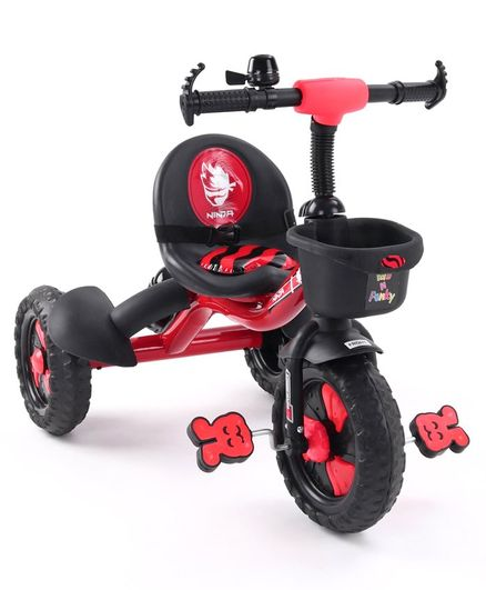 Plug & Play Tricycle With Manual Bell  - Red