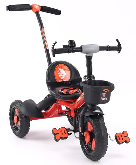 Plug & Play Tricycle With Parental Push Handle  - Orange