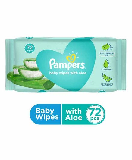 Pampers Baby Gentle wet wipes with Aloe, 72 count, 97% Pure Water