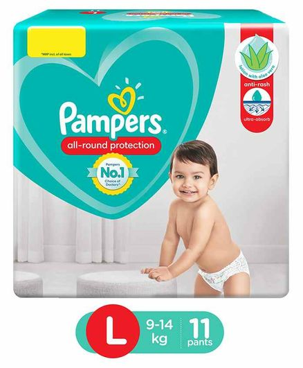 Pampers Pants Style Diapers Large - 11 Pieces