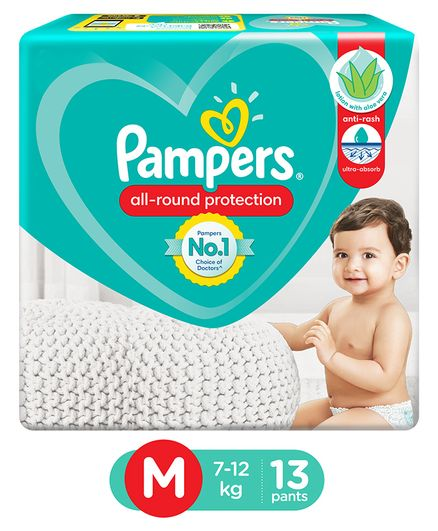 Pampers Pants Style Diapers Medium - 13 Pieces