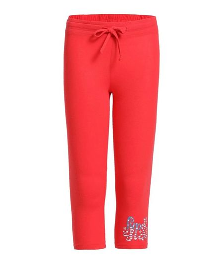 JOCKEY Super Star Print Capri - Hibiscus Red
