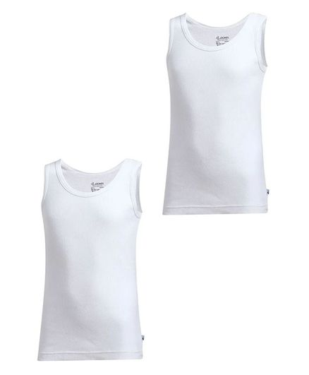 Jockey Sleeveless Solid Vest - White