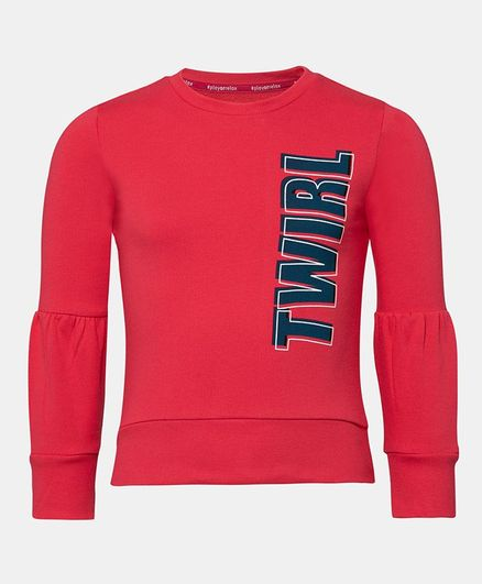 Jockey Full Sleeves Twirl Print Sweatshirt - Ruby Pink