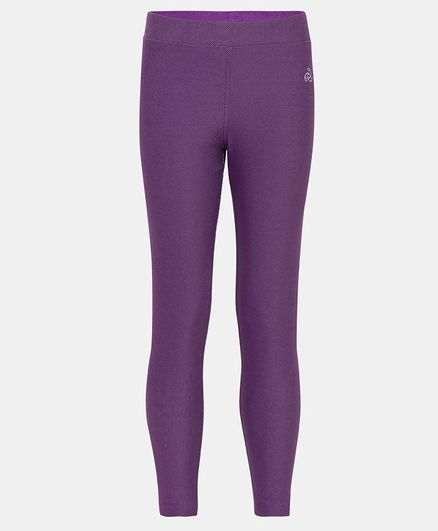 Jockey Solid Full Length Jeggings - Purple