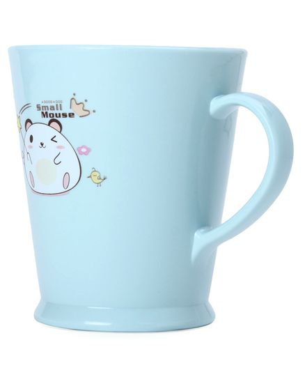 Baby Cup Mouse Print Blue - 500 ml