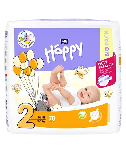 Bella Baby Happy Diapers Small - 78 Pieces