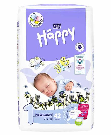 Bella Baby Happy Diapers Extra Small - 42 Pieces