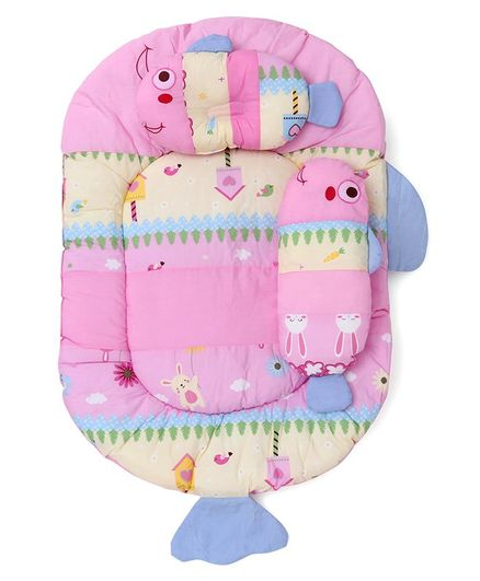 Montaly Fish Shaped Baby Bedding Set - Pink