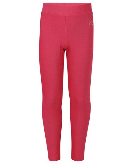 Jockey Solid Full Length Jeggings - Red