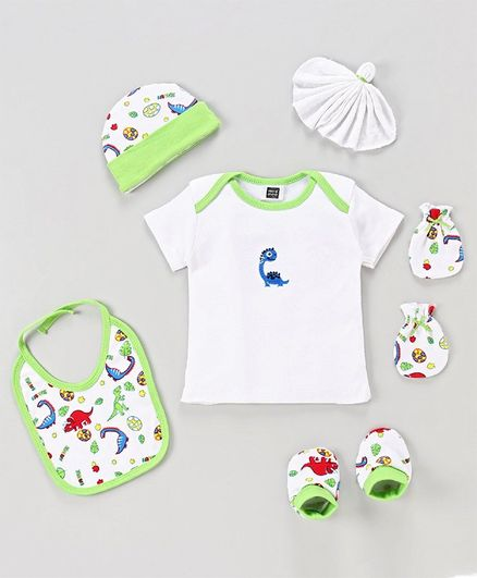 Mee Mee Clothing Gift Set Animal Design Set of 6 - Green