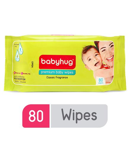 f49ab22d8 Babyhug Premium Baby Wipes 80 Pieces Online in India