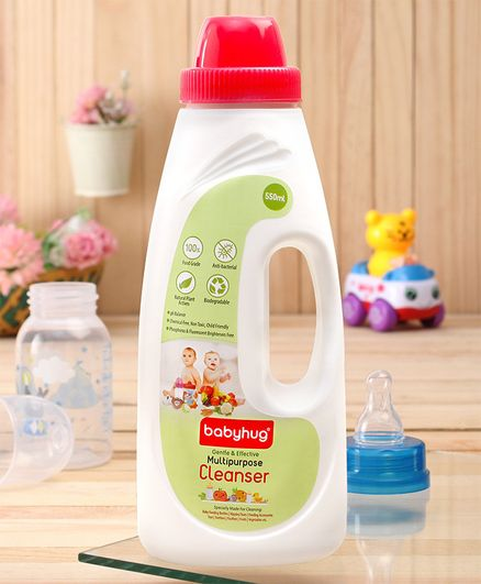 Babyhug Feeding Bottles, Accessories & Vegetables Disinfectant Liquid Cleanser - 550 ml