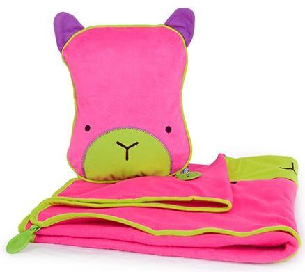 Trunki SnooziHedz Travel Pillow and Blanket Betsy - Pink