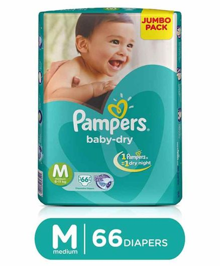 2d87262d56 Pampers Baby Dry Diapers Medium 66 Pieces Online in India, Buy at ...