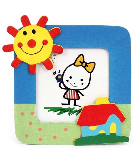 Fab N Funky Photo Frame - Sun And Home Motif