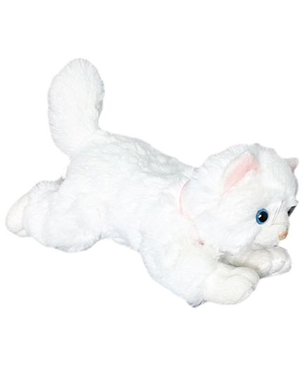 3a83e5ad9984 Soft Buddies Lying Cat Soft Toy White Small 12 cm Online India, Buy ...