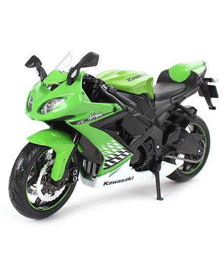 Maisto Diecast Kawasaki Ninja Zx10r Bike Green For 3 10 Years