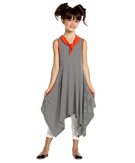 17ef58b65d17 Buy Summer Dress Black And White for Girls (3-4 Years) Online in ...
