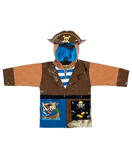 Kidorable Pirate Raincoat - Brown