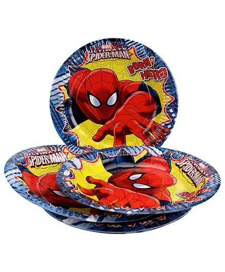 Marvel Spider Man Paper Plate Large - Multi Color