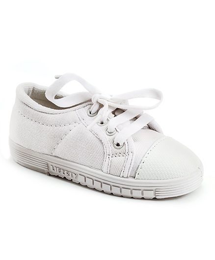 155d14c3bf0b Buy Footfun School Shoes With Tie Up Style White for Both (3-3 Years ...