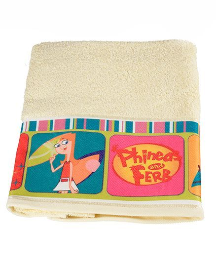 Disney Pheneas & Ferb Printed Towel - Yellow