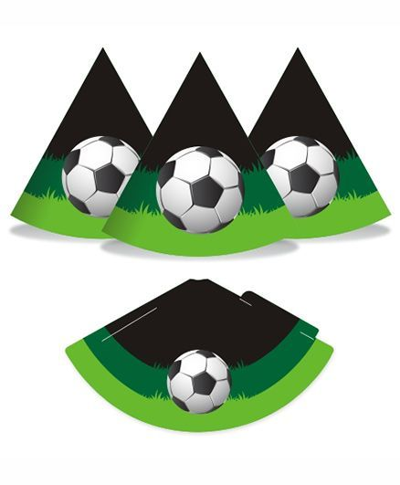 Prettyurparty Football Hats- Green and Black