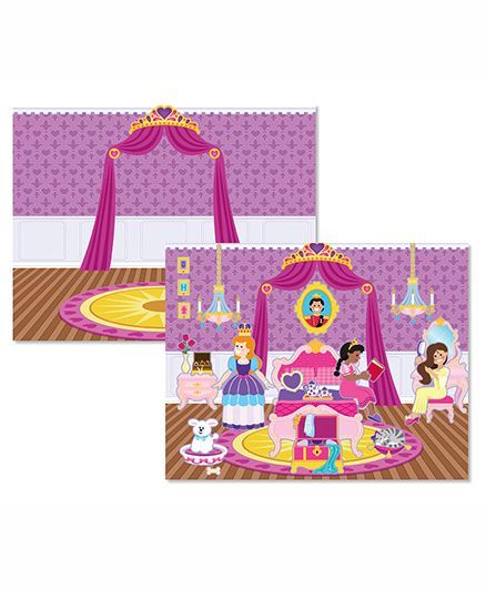 Melissa & Doug Reusable Castle and Princess Sticker Pad - Multicolor